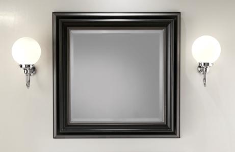 Lustro Devon&Devon, w czarnej, drewnianej ramie 83x83 cm