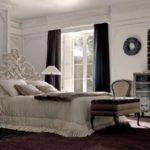 Savio Firmino, sypialnia, łóżko dwuosobowe, stolik nocny, lampki nocne, komoda, lustro.