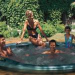 Zabudowany okrągły basen ogrodowy Jacuzzi® Alimia