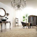 Savio Firmino, pokój kąpielowy, szafka umywalkowa, lustro, regał łazienkowy, wanna wolnostojąca, parawan