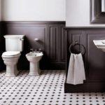 Devon&Devon, Umywalka na postumencie Westminster, WC monoblok i bidet, wieszak na ręcznik, boaseria ścienna