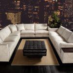 Sofa wieloosobowa, stylowa, U-krztałtna, rama z twardego drewna, wysoka jakość tkanin, Duresta, Mondrian Corner.