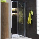 Przyścienna kabina prysznicowa z przesuwanymi drzwiami