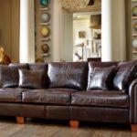 Duża skórzana sofa Duresta New Plantation