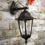 Lampa ogrodowa ITALUX, szkło, H 48 cm dł 29 cm