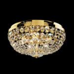 Złoty plafon MASIERO zdobiony kryształkami