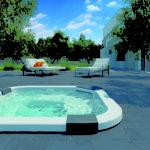 Wpuszczony w podłoże mini-basen Jacuzzi® Santorini Pro