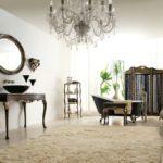 Umywalka i marmurowy blat, lustro, aplikacja, etażerka, otoman, wanna, parawan, sofa, torciera