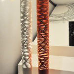 Lampa stojąca FOSCARINI, lakierowane włókno szklane, H 195 cm Ø 25 cm