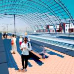 Płytki mrozoodporne Winckelmans na peronie kolejowym