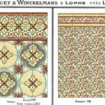 Winckelmans – płytki wiktoriańskie - mozaika kamionkowa. Kompozycje z pierwszej połowy XX wieku - jedne z tysiąca możliwych kombinacji