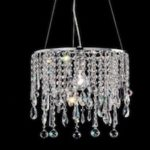 Masiero, kryształowa lampa wisząca fi 35 cm, kryształy Swarovskiego, Asfour lub szklane