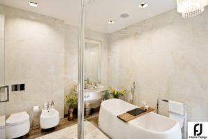 Salon łazienkowy z wanną wolnostojącą