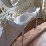 Podwójna umywalka na konsoli Palladio