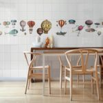 Kolekcja Macchine Volanti 01, zestaw 24 szt płytek z dekorami, format 20x20 cm