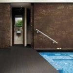 Aranżacja salonu kąpielowego przy użyciu płytki Laminam® z kolekcji Oxide