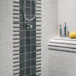 pomysł na aranżację strefy prysznicowej przy użyciu płytki z kolekcji Rock