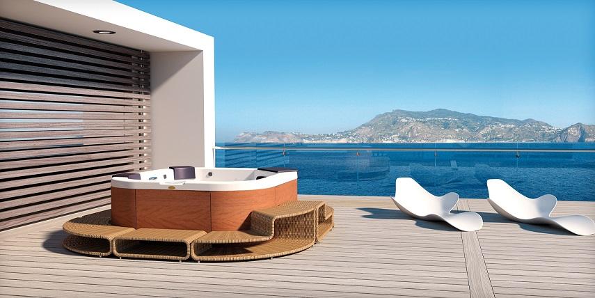 Basen z hydromasażem Jacuzzi Santorini