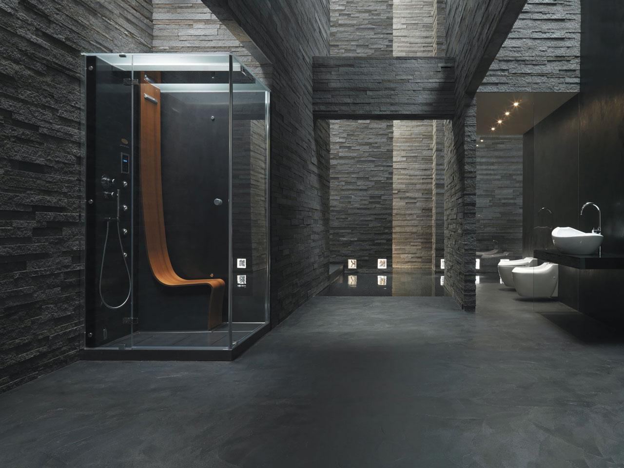 Jacuzzi® Omega - kabina prysznicowa z termostatem, deszczownicą, kaskadą i aromaterapią.