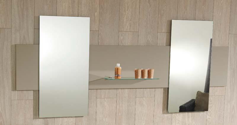 Podwójne lustro z półką, Ambiance Bain