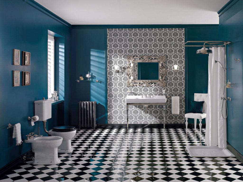 Salonik łazienkowy w stylu glamour