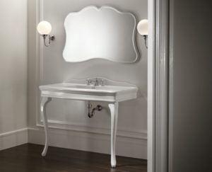 Devon&Devon, konsola Colette, lustro Fairy, kinkiety łazienkowe