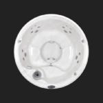 J-210 Mini-Basen PROMOCYJNY Jacuzzi® Okrągły, 4-5 osobowy, wymiary: średnica: 198, wys. 91 cm, widok z góry