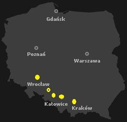 mapka_wroclaw_opole_katowice_gliwice_krakow