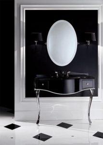 Devon&Devon, konsola Audrey, lustro łazienkowe Beauty, kinkiety czarne